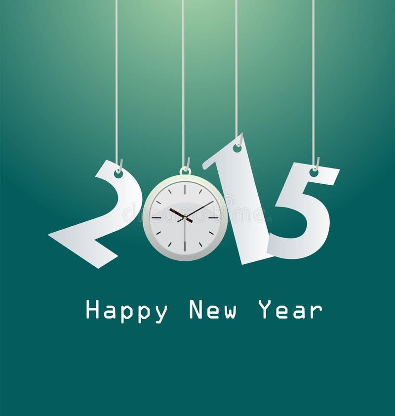 Download Счастливый Новый Год 2015 иллюстрация вектора. иллюстрации насчитывающей часы - 41651100