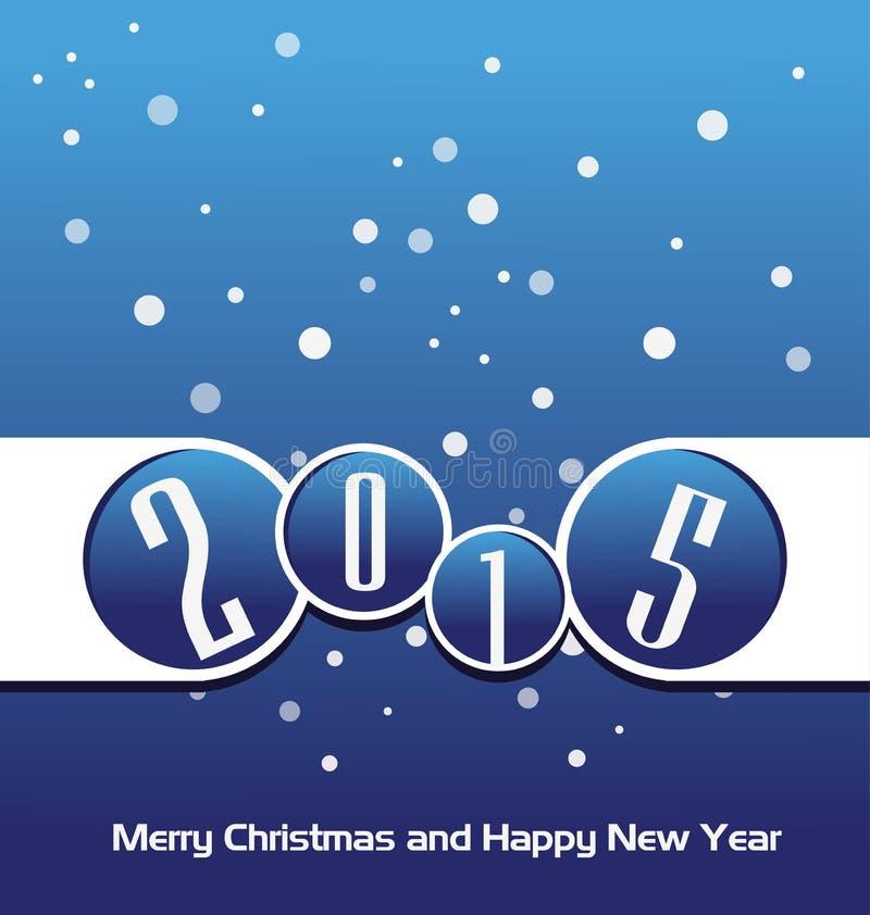 Download Счастливый Новый Год 2015 иллюстрация вектора. иллюстрации насчитывающей декабрь - 41651143