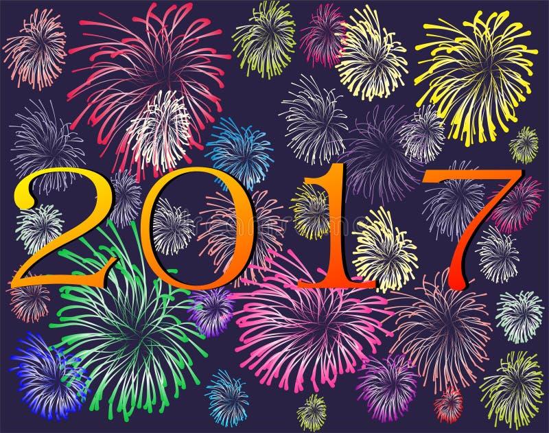 Счастливый Новый Год 2017 стоковые изображения rf