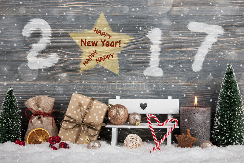 Счастливый Новый Год 2017 стоковая фотография rf