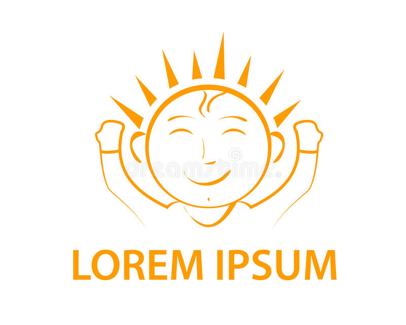 Счастливый логотип младенца иллюстрация штока
