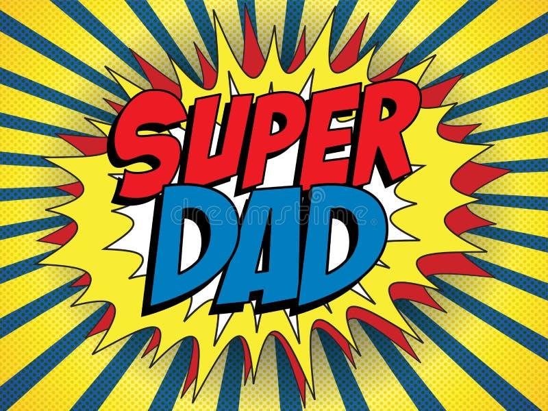 Счастливый папа супергероя дня отца бесплатная иллюстрация