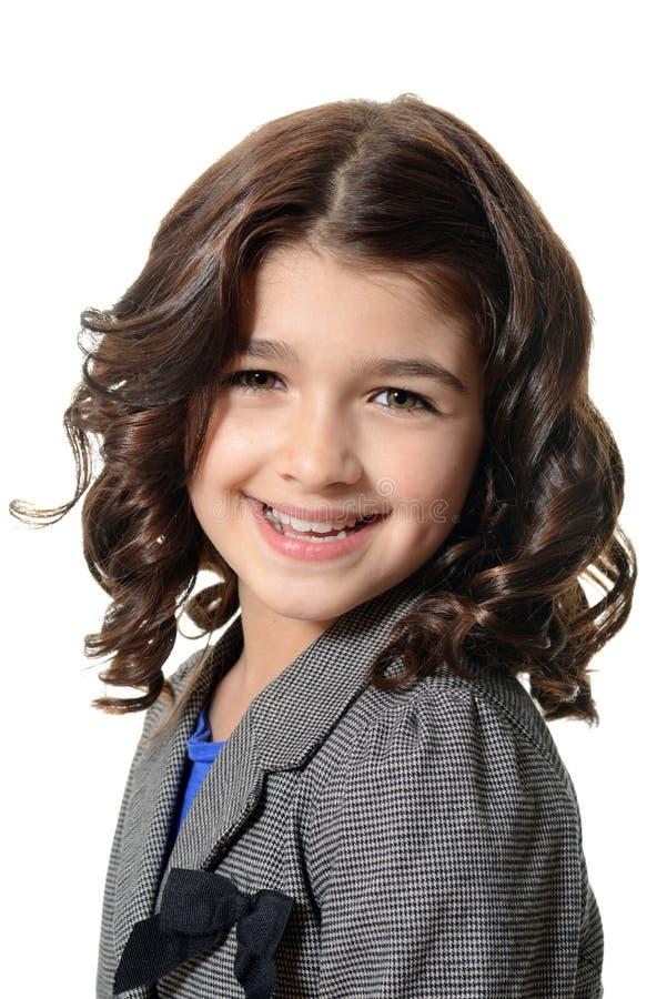 Счастливый портрет маленькой девочки стоковые изображения rf