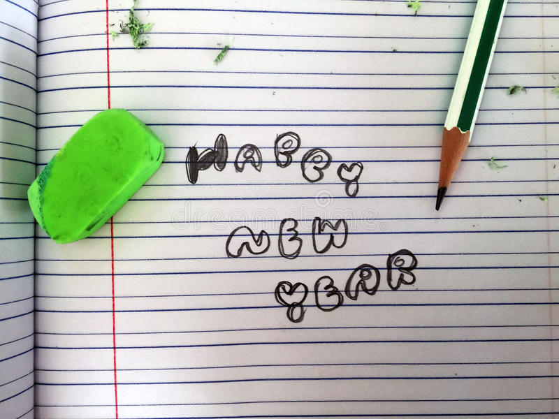 Счастливый почерк Нового Года стоковые изображения rf