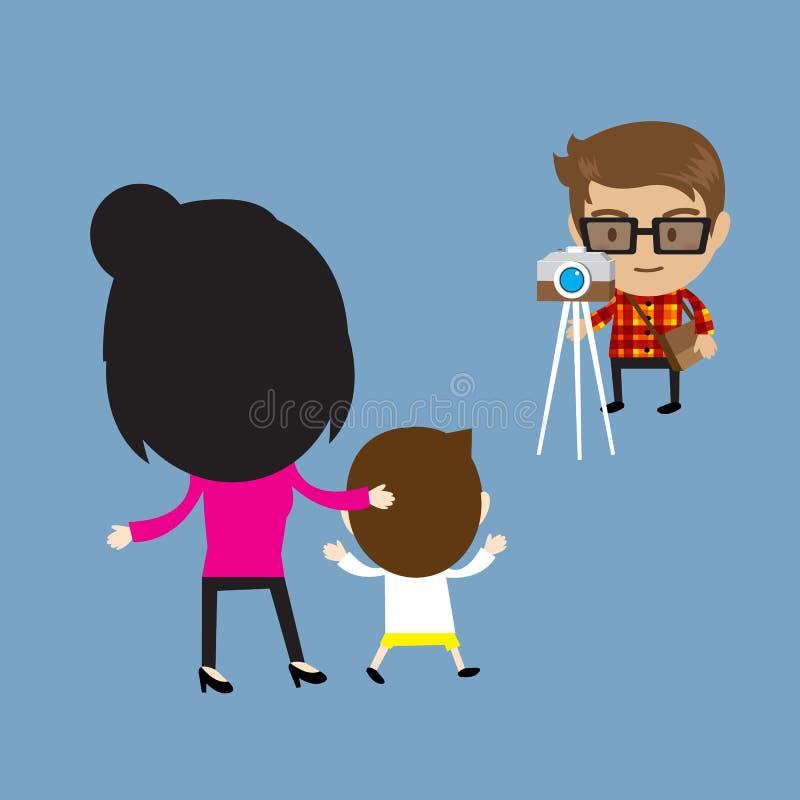 Счастливый путешествовать семьи бесплатная иллюстрация