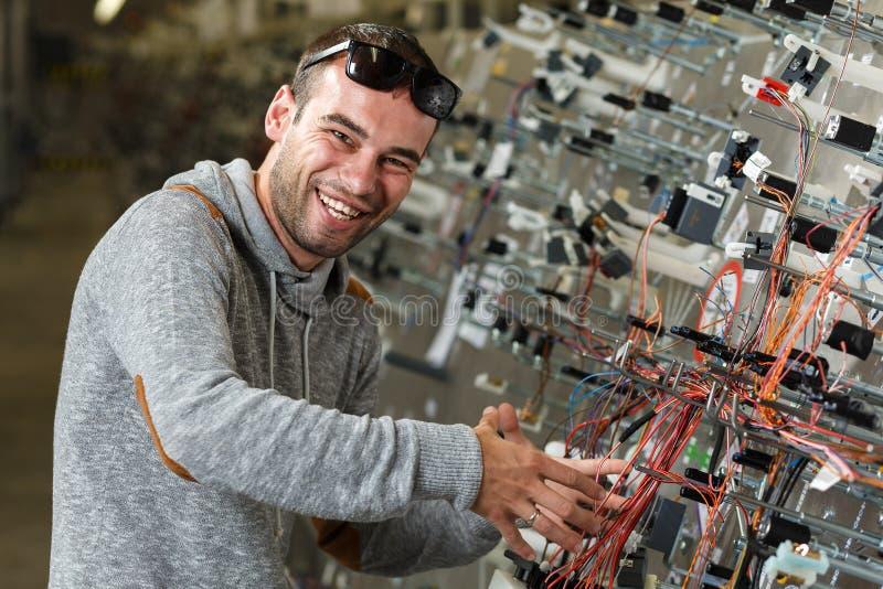 счастливый работник стоковая фотография rf