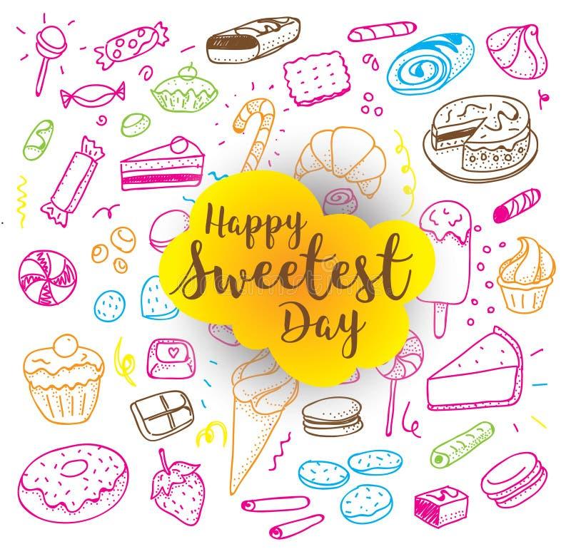 Счастливый самый сладостный день бесплатная иллюстрация