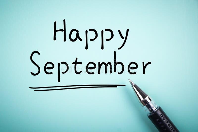 Счастливый сентябрь стоковые фото