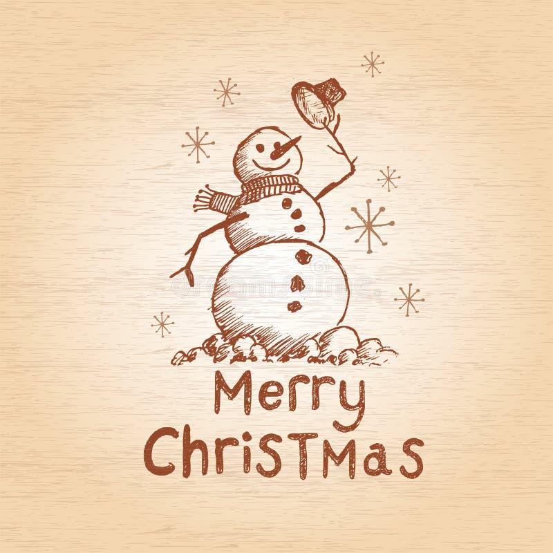 Счастливый снеговик бесплатная иллюстрация