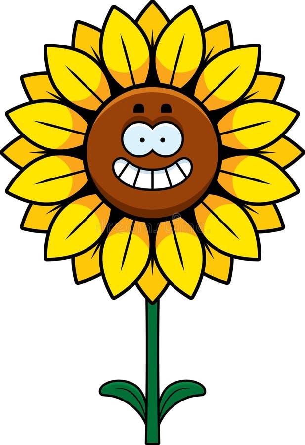Счастливый солнцецвет иллюстрация вектора