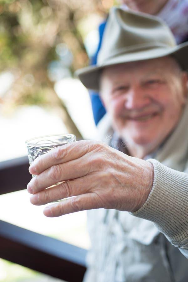 счастливый старший человека стоковая фотография