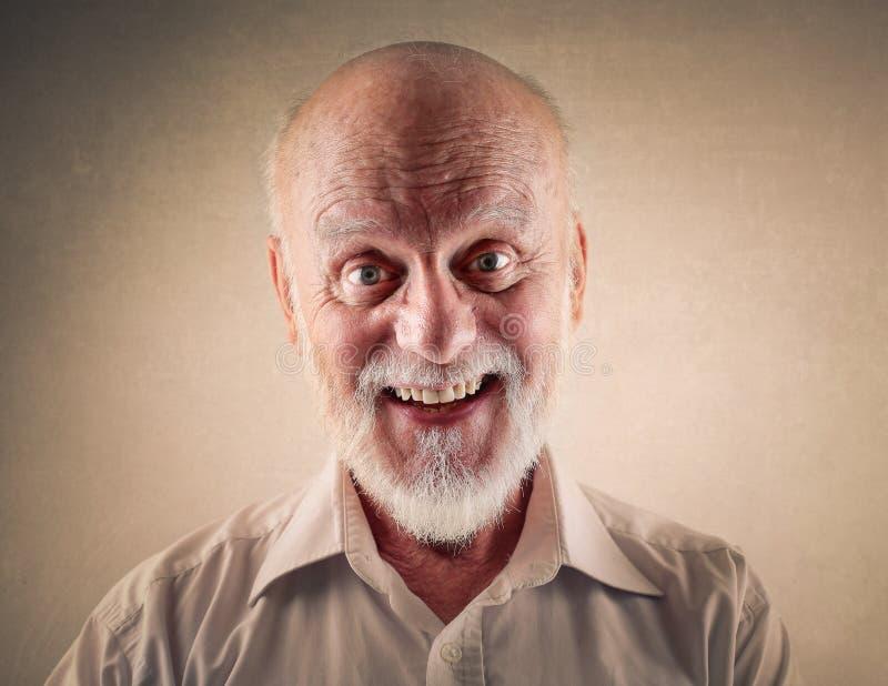 счастливый старший стоковая фотография rf