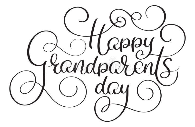 Счастливый текст дня дедов на белой предпосылке Иллюстрация нарисованная рукой каллиграфии литерности вектора EPS10 бесплатная иллюстрация