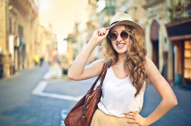 счастливый турист стоковые изображения rf