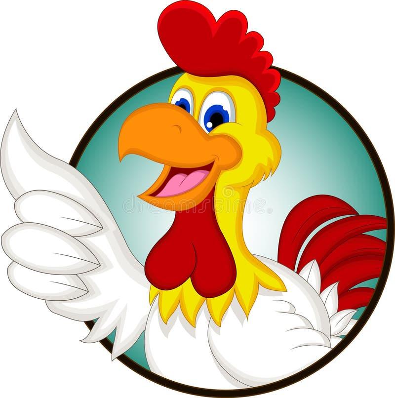 Счастливый цыпленок шаржа иллюстрация вектора