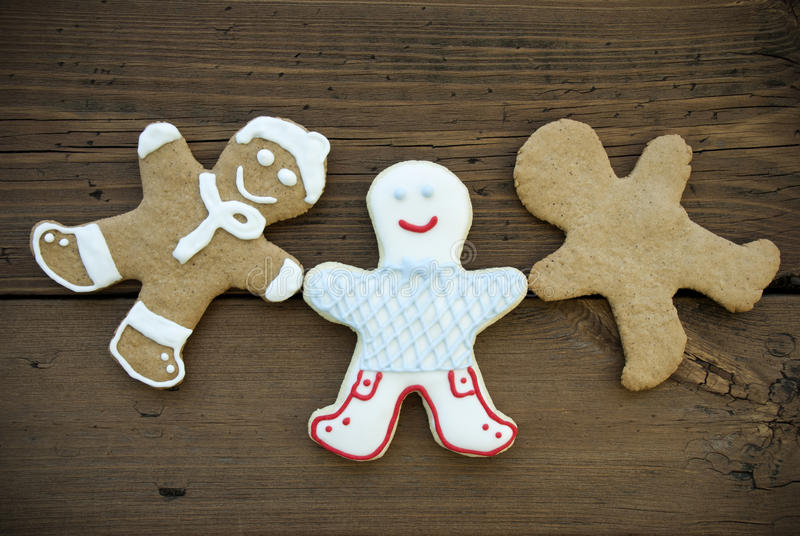 Счастливый человек хлеба имбиря 3 стоковые изображения rf