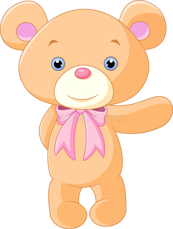 Счастливый шарж бурого медведя иллюстрация вектора
