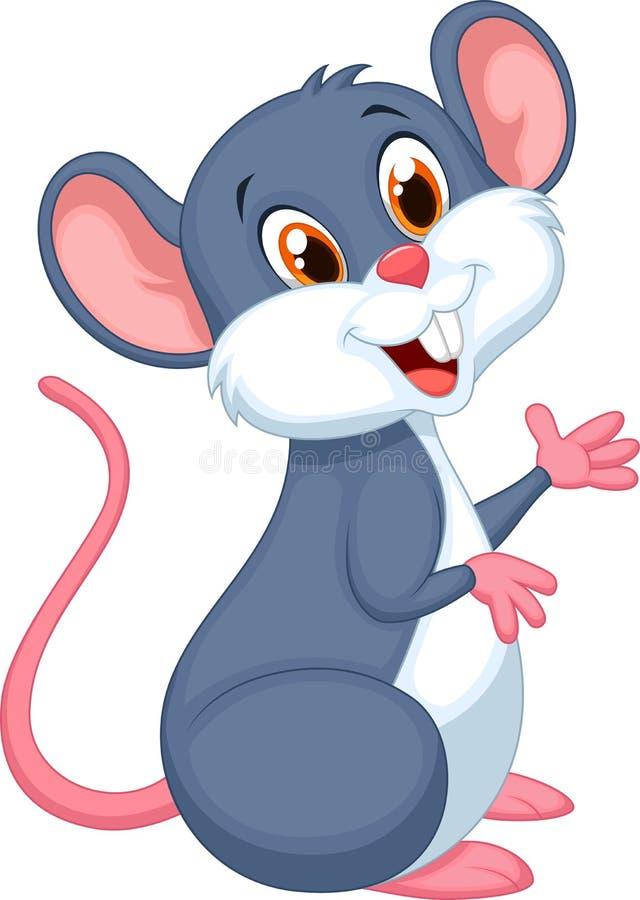 Счастливый шарж мыши иллюстрация вектора