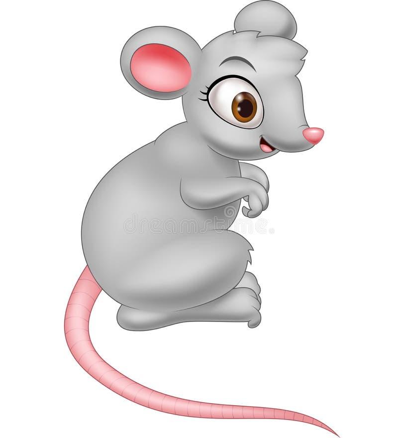 Счастливый шарж мыши иллюстрация штока