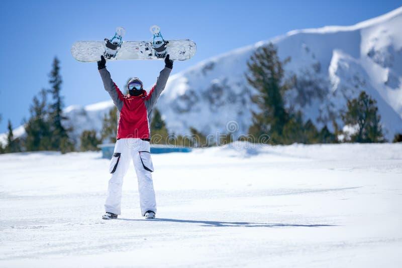 счастливый snowboarder стоковое фото rf