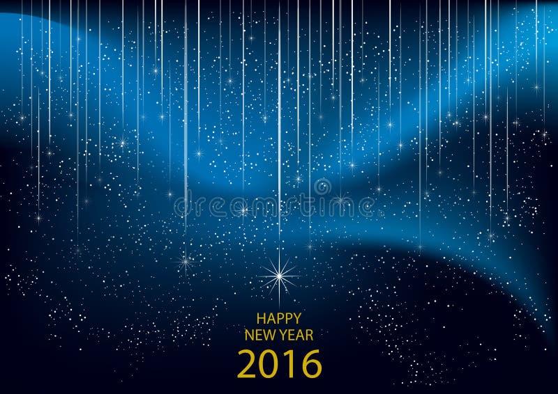 2016 счастливых Новых Годов иллюстрация вектора