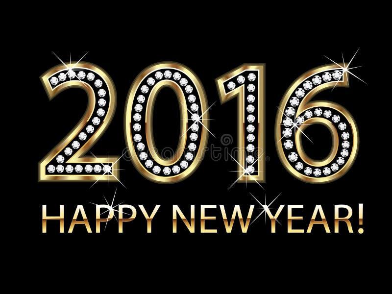 2016 счастливых Новых Годов стоковая фотография