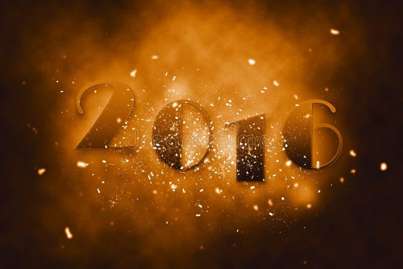 2016 счастливых Новых Годов бесплатная иллюстрация