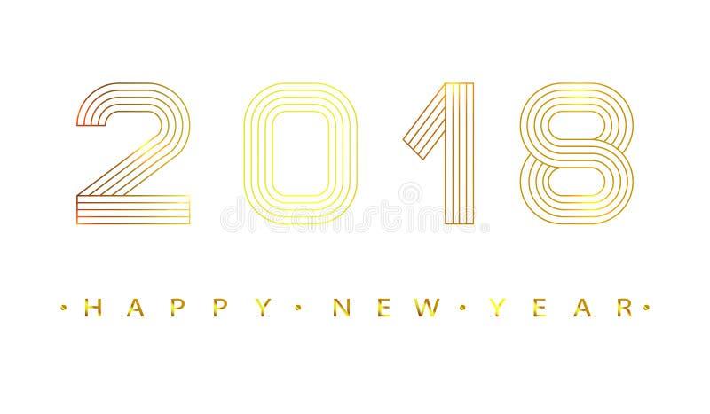 2018 счастливых Новых Годов иллюстрация штока