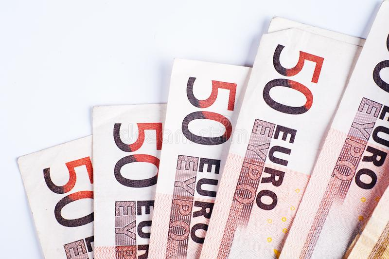 50 счетов евро стоковые фотографии rf