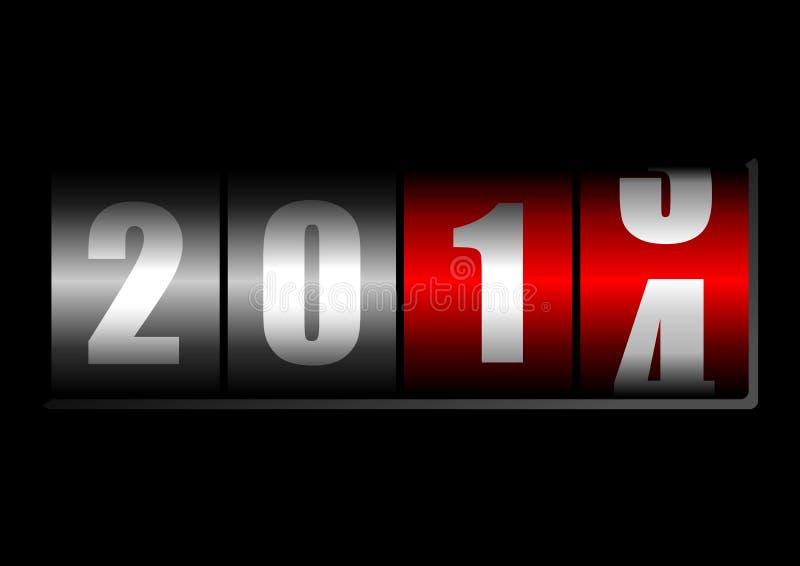 Счетчик 2014 Новый Год иллюстрация штока