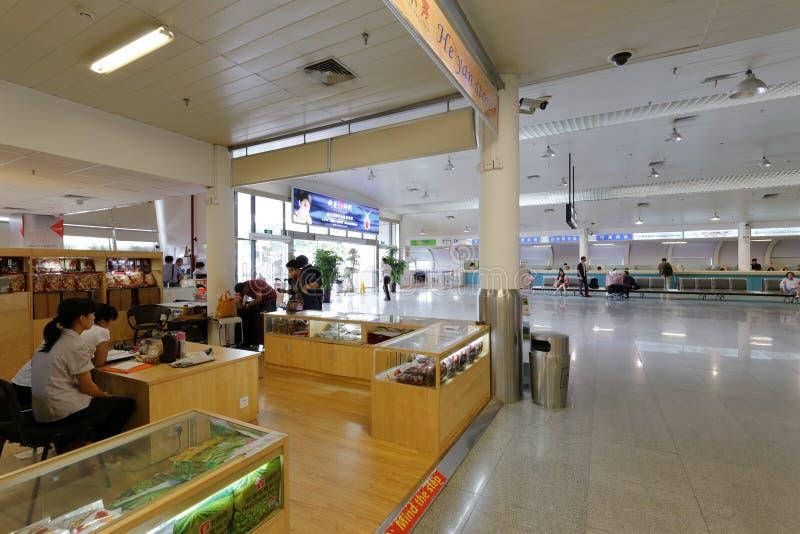 Счетчик обслуживания Xiamen и паромного терминала jinmen стоковое изображение