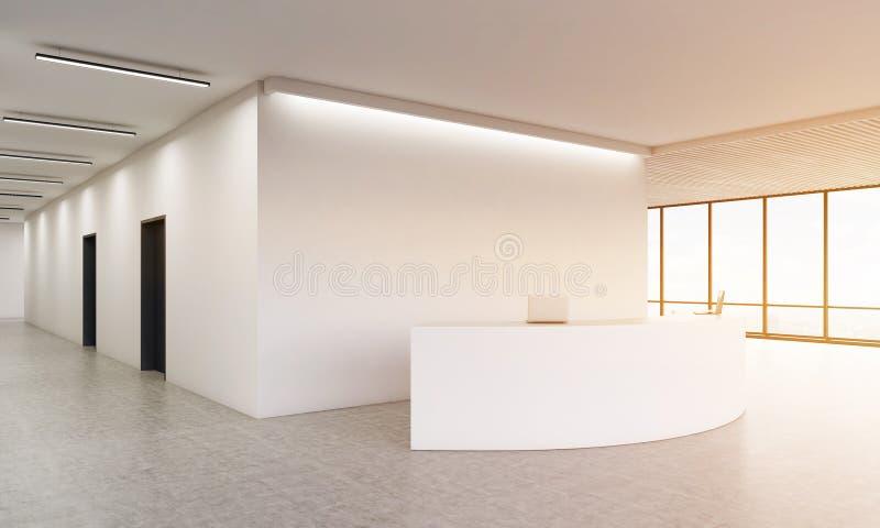 Счетчик приема в коридоре бесплатная иллюстрация