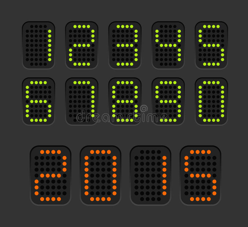 Счетчик при установленные числа иллюстрация штока
