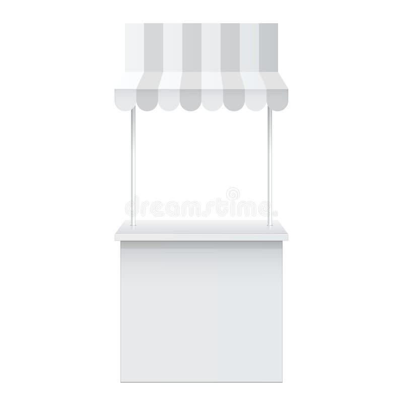 Счетчик продвижения, стойка розничной торговлей иллюстрация вектора