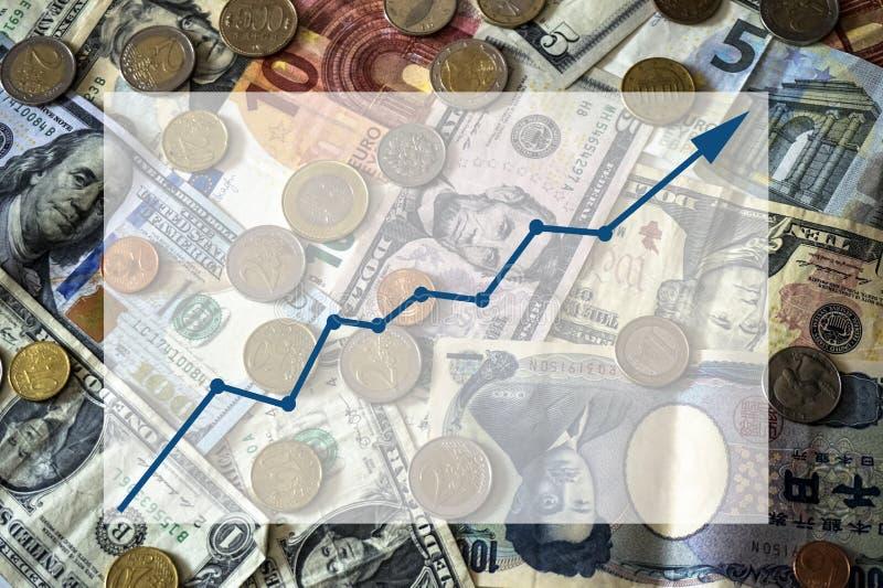 Счеты и монетки различной предпосылки наций с текстовым полем стоковые фото
