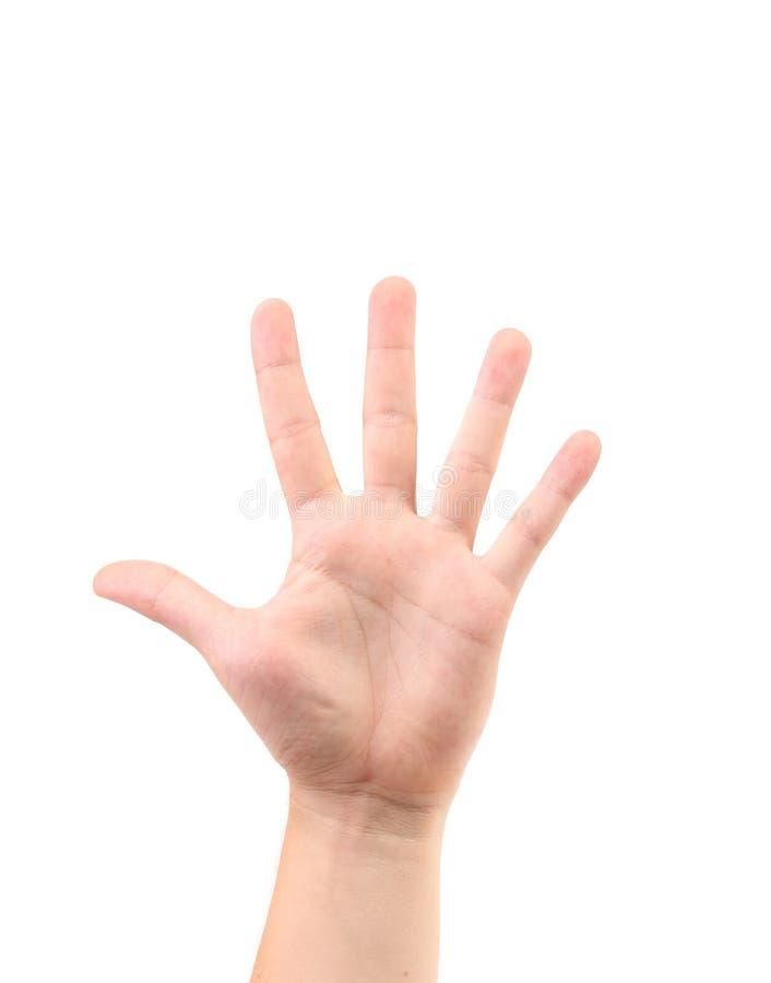 Счет на пальце. стоковые фото
