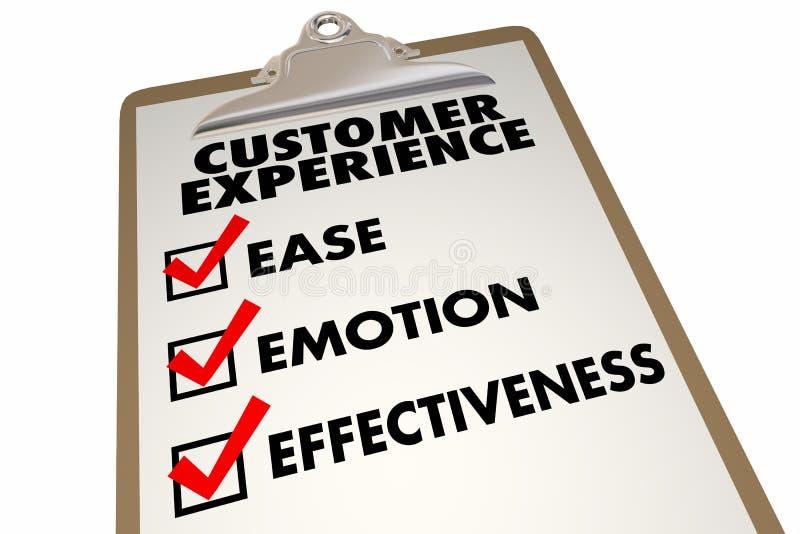 Счет соответствия обзора опыта клиента большой бесплатная иллюстрация