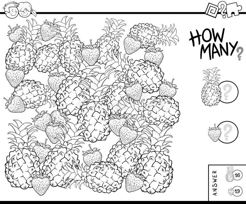 Считать книгу цвета задачи плодов воспитательную бесплатная иллюстрация