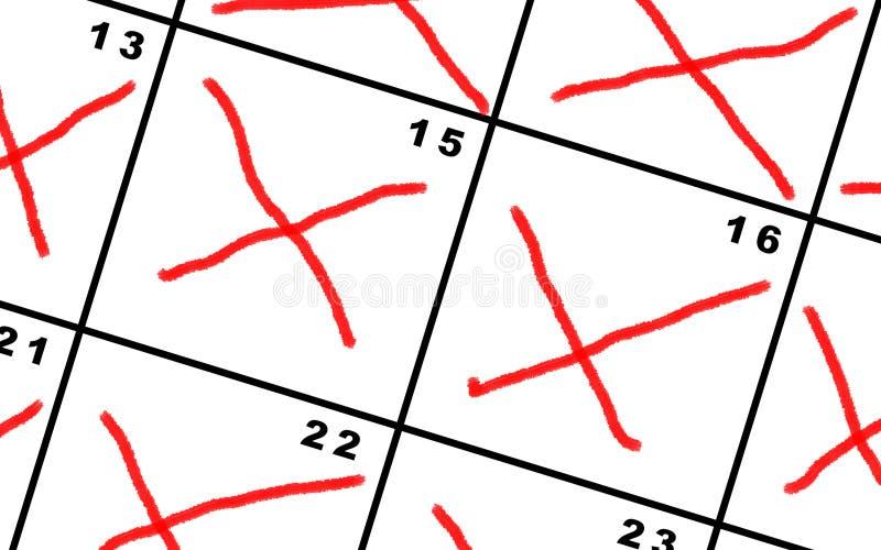 Счёт в обратном направлении дни на календаре стоковое изображение rf