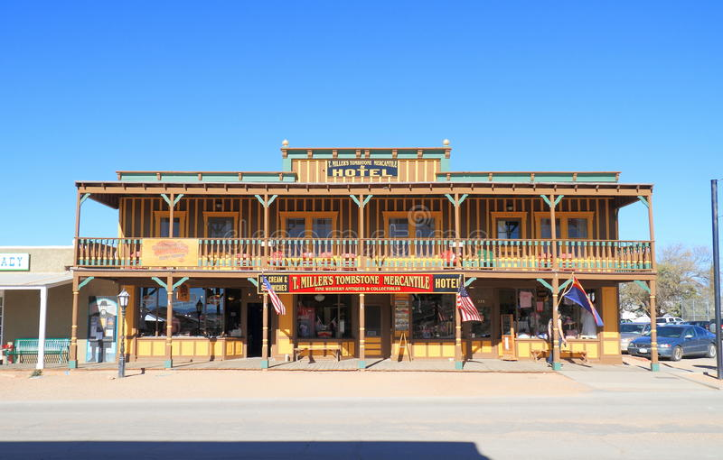 США, Аризона/надгробная плита: Исторические гостиница и магазин стоковые фото