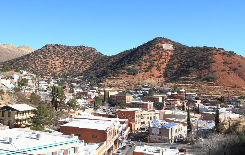 США, Аризона/Bisbee: Городской пейзаж исторического Bisbee стоковые изображения rf