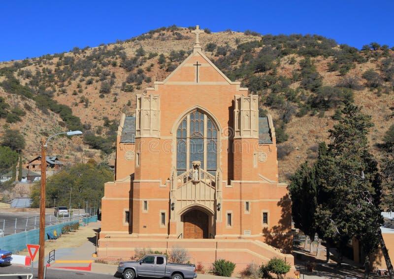 США, Аризона/Bisbee: Историческая церковь Bisbee - St. Patrick стоковые изображения rf