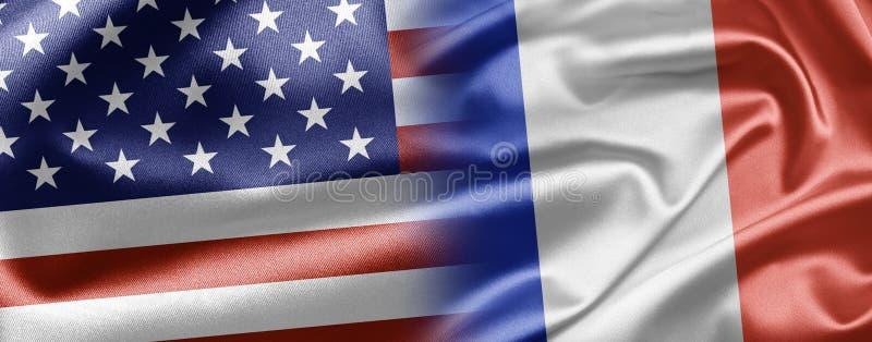 США и франция Стоковое Изображение