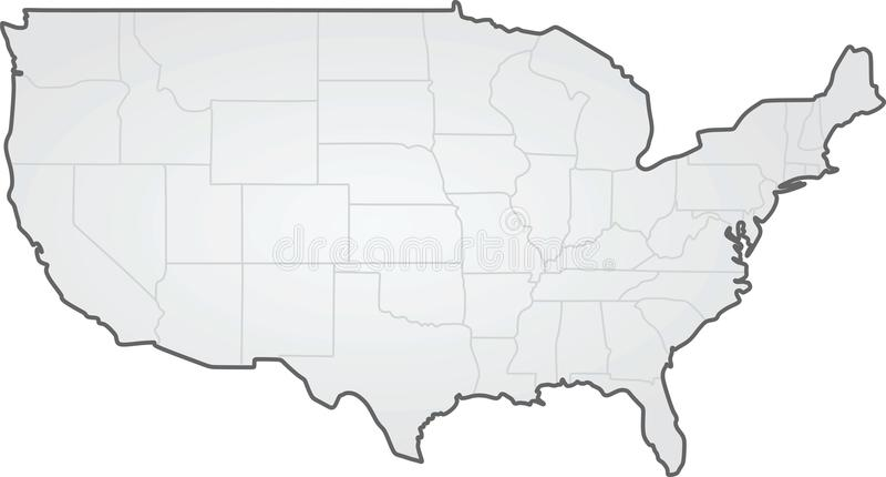 США карта государственнаяа граница иллюстрация штока