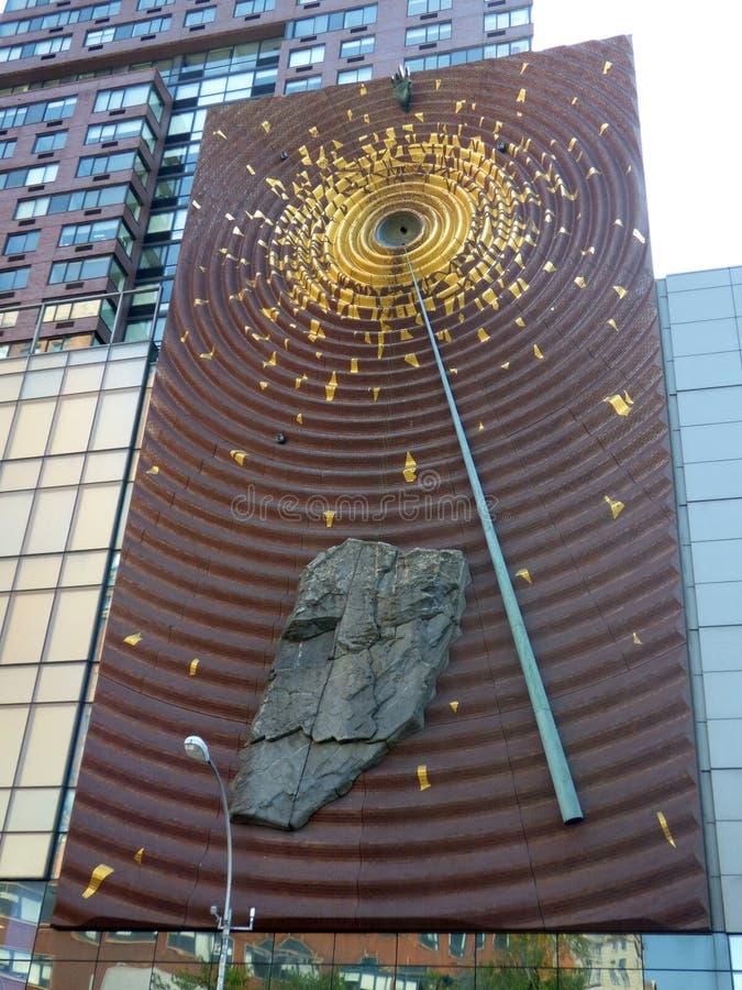 США Нью-Йорк Квадрат соединения Artwall стоковые фотографии rf