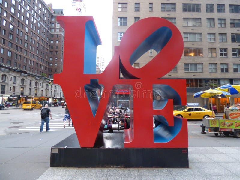 США Нью-Йорк Любовь стоковая фотография