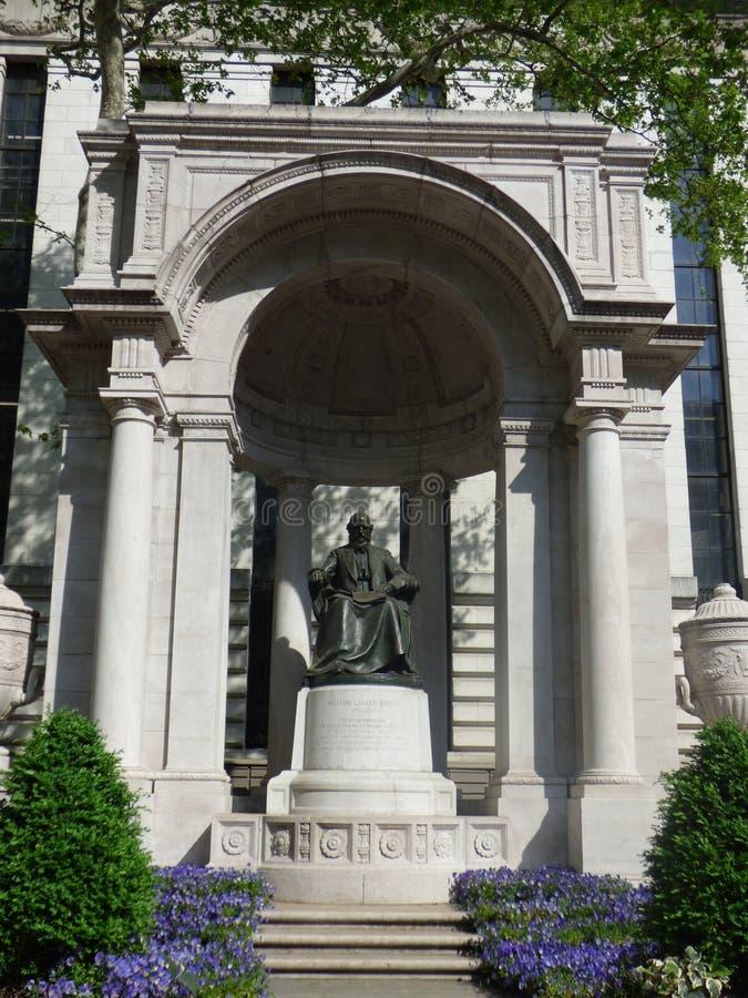 США Нью-Йорк Статуя парка Вильям стоковая фотография