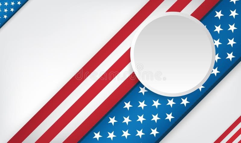 США 4-ое дизайна предпосылки в июле иллюстрация вектора