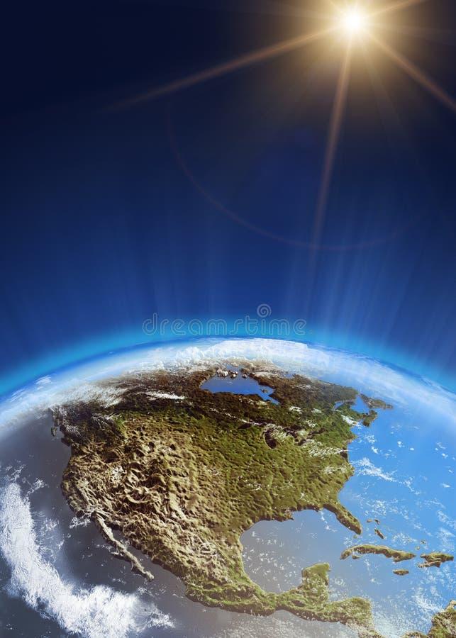 США от космоса бесплатная иллюстрация
