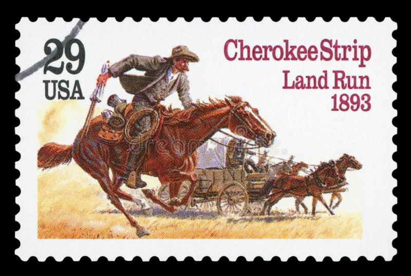 США - Печать почтового сбора стоковое фото